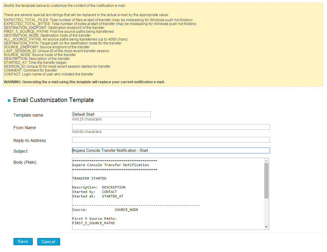 Setting Up A New Email Template - Email template html code