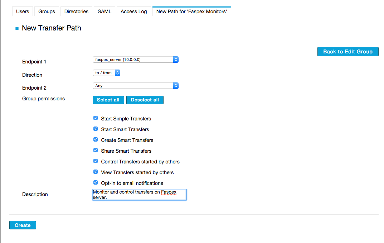 Setup Example #2: Managing Aspera Faspex Transfers