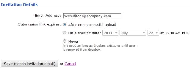 Inviting Outside Contributors to a Dropbox